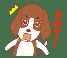 Beagle investigator Calvi & Glico sticker #2210189