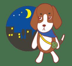 Beagle investigator Calvi & Glico sticker #2210222