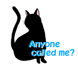 The stickers of black cats(ENG.) sticker #2210769