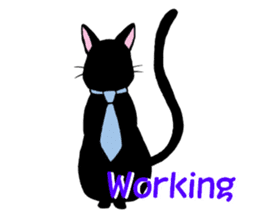 The stickers of black cats(ENG.) sticker #2210777