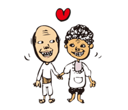 middle-aged man&middle-aged lady sticker #2211505