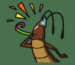 Friendly cockroach sticker #2211601