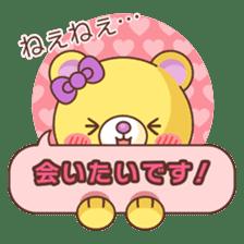 Bear message Sticker sticker #2218105
