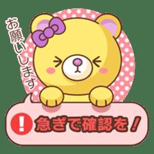 Bear message Sticker sticker #2218113