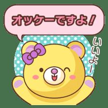 Bear message Sticker sticker #2218118