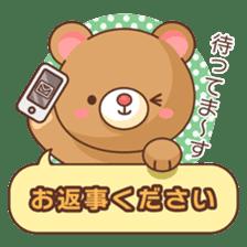 Bear message Sticker sticker #2218127