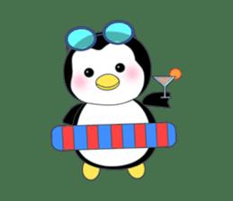 Penguin baby lovely sticker #2222030