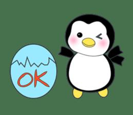 Penguin baby lovely sticker #2222034