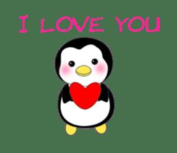 Penguin baby lovely sticker #2222055