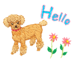 Embroidery of cute animals sticker #2238784