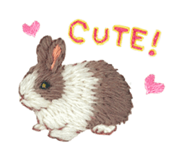 Embroidery of cute animals sticker #2238790