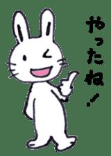with rabbit sticker #2262952