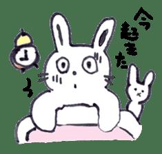 with rabbit sticker #2262953