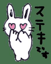 with rabbit sticker #2262970