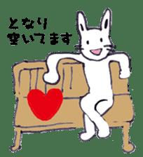 with rabbit sticker #2262975