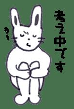 with rabbit sticker #2262977