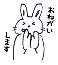 with rabbit sticker #2262980