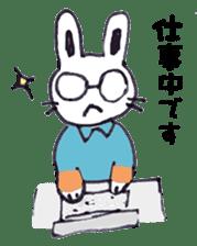 with rabbit sticker #2262987