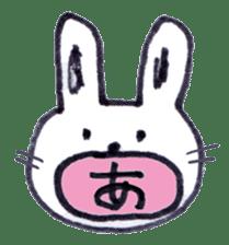 with rabbit sticker #2262990