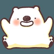 สติ๊กเกอร์ไลน์ Nohonhon polar bear