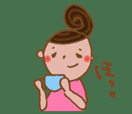 yuru~i ka~san sticker #2272829