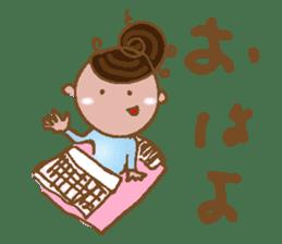yuru~i ka~san sticker #2272838