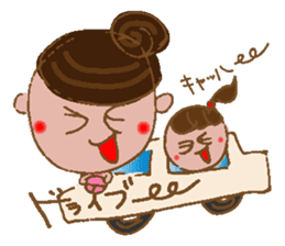yuru~i ka~san sticker #2272848