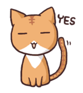 Tabby cat & white cat sticker #2273733