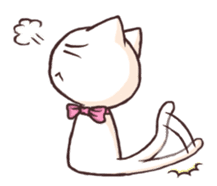 Tabby cat & white cat sticker #2273738