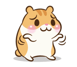 Chloe the hamster sticker #2276171