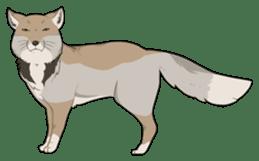 Tibetan sand fox stickers! sticker #2278112