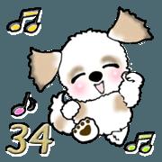 สติ๊กเกอร์ไลน์ Shih Tzu Dog 34