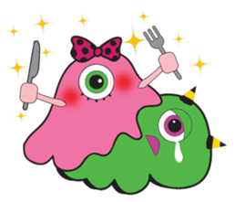 PINK MONSTER and GREEN MONSTER sticker #2289756