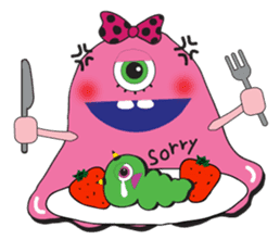 PINK MONSTER and GREEN MONSTER sticker #2289781