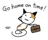 The Working Cat [ENG] sticker #2290835
