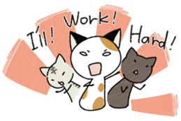 The Working Cat [ENG] sticker #2290843