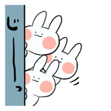 Usako of white rabbit sticker #2293764