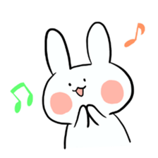 Usako of white rabbit sticker #2293779