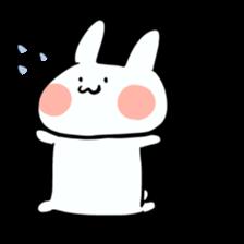 Usako of white rabbit sticker #2293782