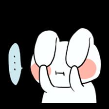 Usako of white rabbit sticker #2293783