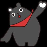 สติ๊กเกอร์ไลน์ Bear Black