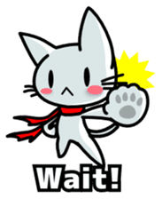 heroic cat (English ver.) sticker #2302081