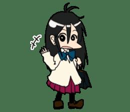 Cardigan schoolgirl sticker #2308664