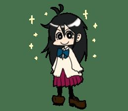 Cardigan schoolgirl sticker #2308671