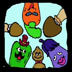 kawaii vegetables