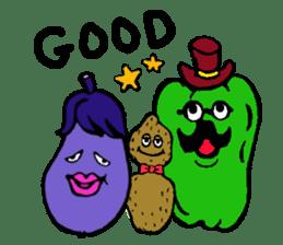 kawaii vegetables sticker #2309269