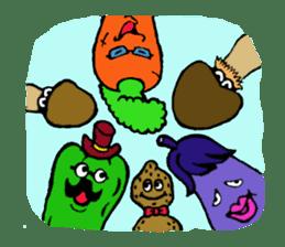 kawaii vegetables sticker #2309275