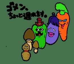kawaii vegetables sticker #2309290