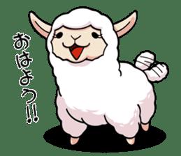 Alpaca wooly sticker #2320936