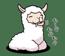 Alpaca wooly sticker #2320937